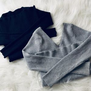 Two good quality sweaters Black and Gray size S